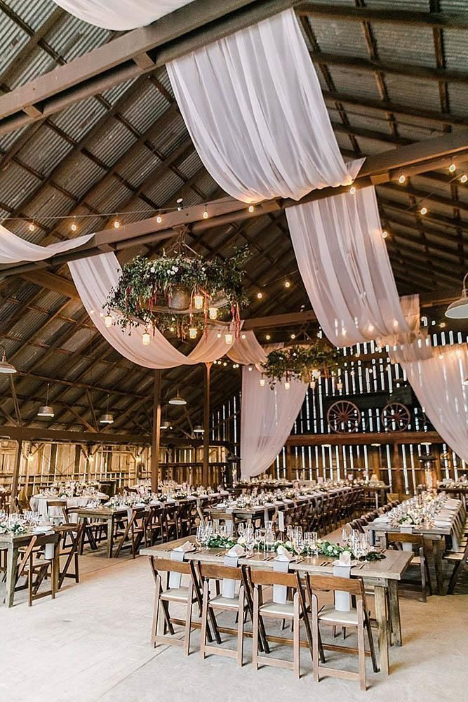 45 Romantic Barn Wedding Decorations