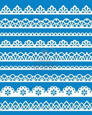 Lace designs for piping on cookies