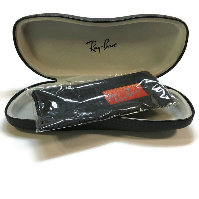 Ray Ban Tech Eyeglasses Sunglasses BLACK W/Cloth Clamshell Case ONLY | eBay