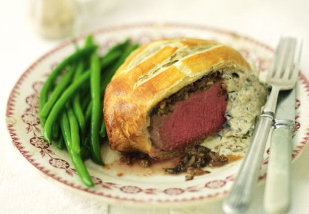 Mini beef Wellingtons with morel mushrooms, sherry & thyme by Lorraine Pascale