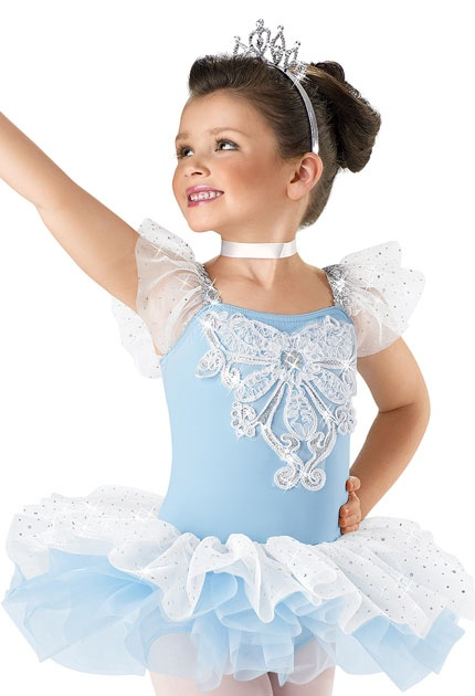 Floral Appliqué Tutu Dress; Weissman Costumes