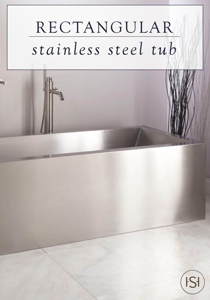 Indulge in industrial style with the rectangular design of the stainless steel Ultro Freestanding Tub. This striking and spacious bathtub has angled ends that allow you to lean back while you relax after a long day's work.