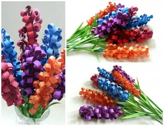 paper hyacinth (Tavaszhozó jácintok papírból - Színes Ötletek)