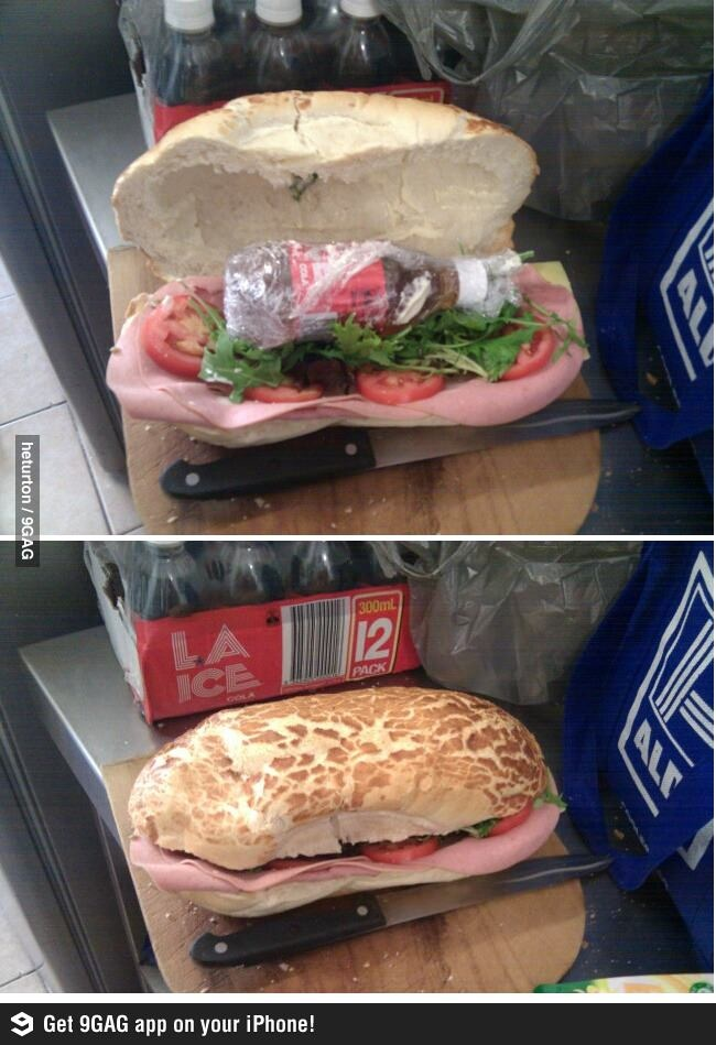 """How to sneak in alcohol"" .....but where would you go that you would you need to hide it in a sandwich?"