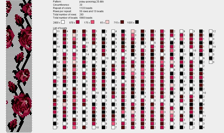 схемы бисерных жгутов вязаных крючком: 25 тыс изображений найдено в Яндекс.Картинках