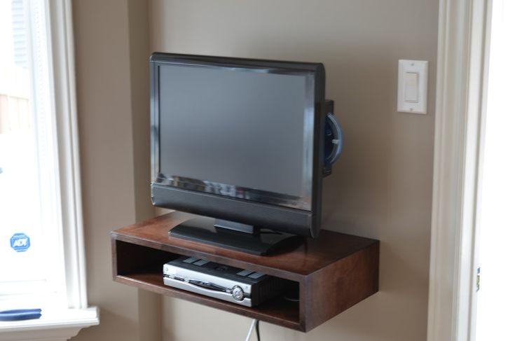 floating tv shelf ideas for the house pinterest. Black Bedroom Furniture Sets. Home Design Ideas