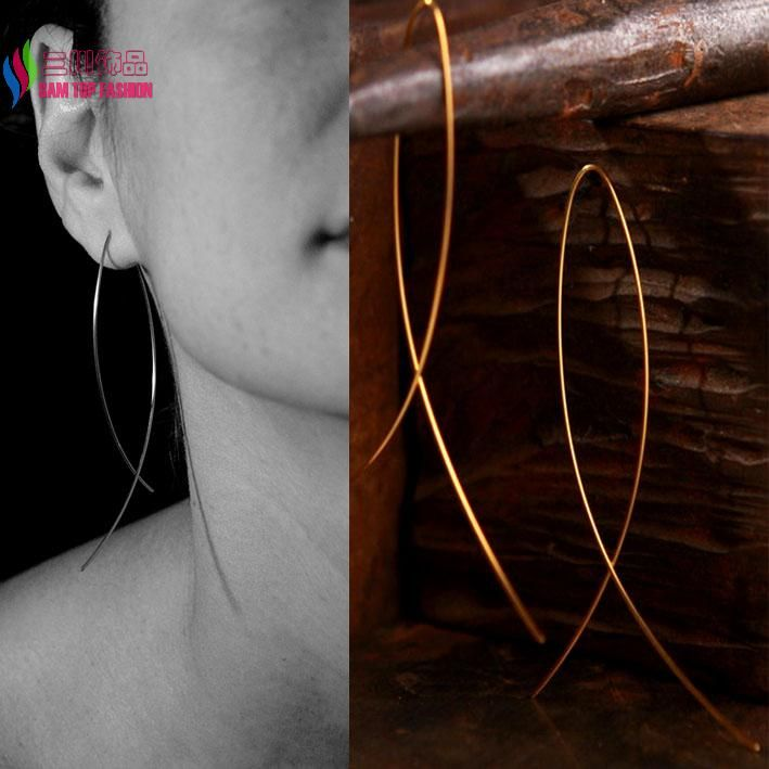 hot Fashion Simplicity Handmade Fish Shaped Hoop Copper Wire Earrings  for Women Brincos de gota Feminino-in Drop Earrings from Jewelry & Accessories on Aliexpress.com | Alibaba Group