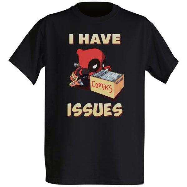 Chibi Deadpool I Have Issues T-Shirt $19.99