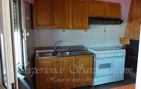 kitchen incheap self catering accomodation in #sardinia #italy #sardiniaholidayaccommodation