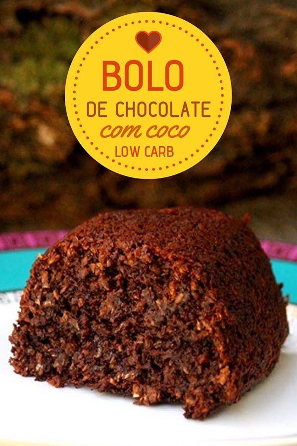 Bolo De Chocolate E Coco Com Ameixa Low Carb Faca Em Casa Esse