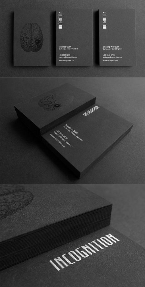 Dark And Mysterious Inspired Black Business Card Design