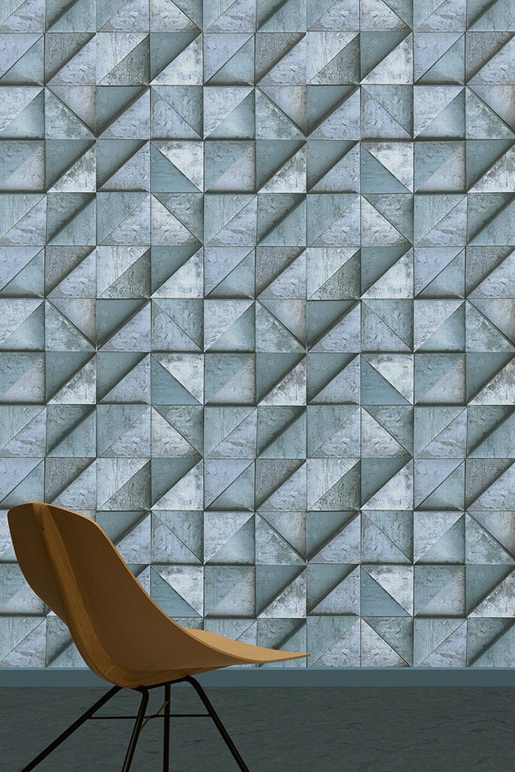 3D tapeta v podaní vystupujúcich trojuholníkov od Daniela Hechtera   DIMEX