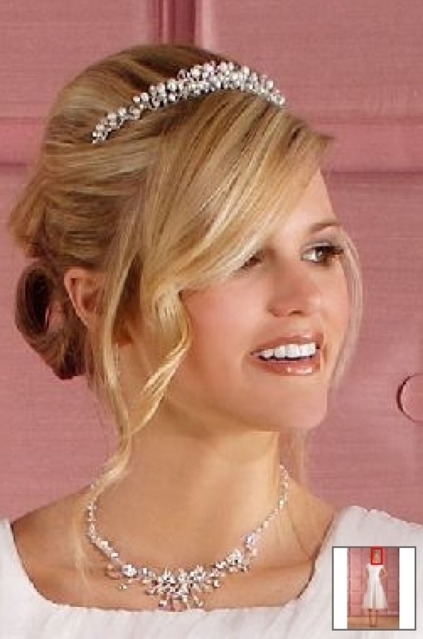 Wedding Updo Hairstyle With Tiara Hairstyles Bun Free