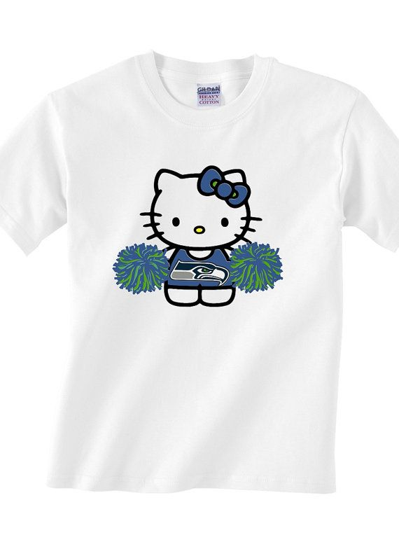 Youth Hello kitty Seattle seahawks football by ParkLaneCouture