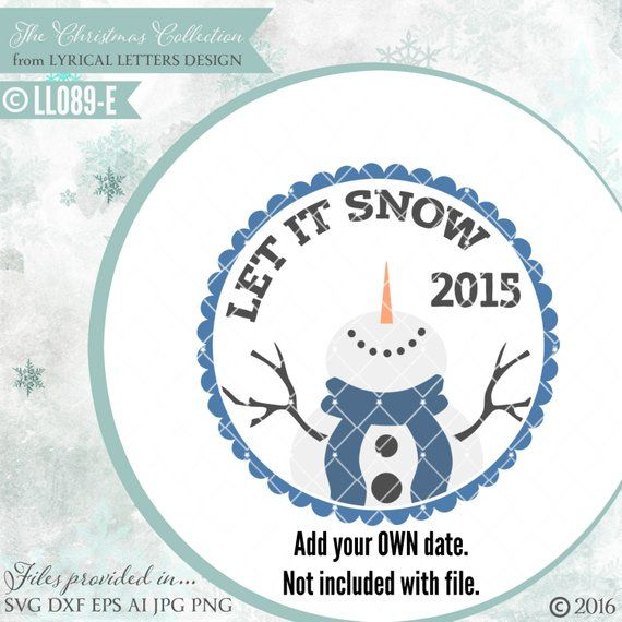Floating Christmas Ornament Design Let It Snow Snowman Ll089 E Svg Dxf Fcm Ai Eps Png Jpg Digital File For Commercial And Personal Use Ornaments Design Lettering Design Christmas Ornaments