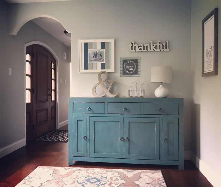 Gallery Wall, Wall Collage Sideboard Table - Home Goods Lamp - Target Area Rug - Wayfair Decor - Hobby Lobby & Michael's