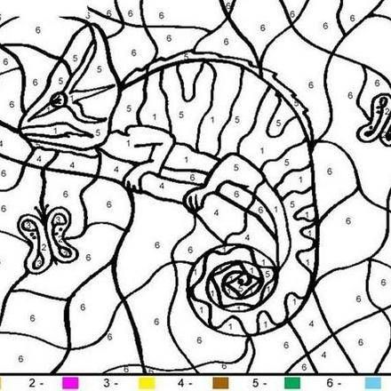 animal color by number coloring pages 43 free online coloring - Color The Picture