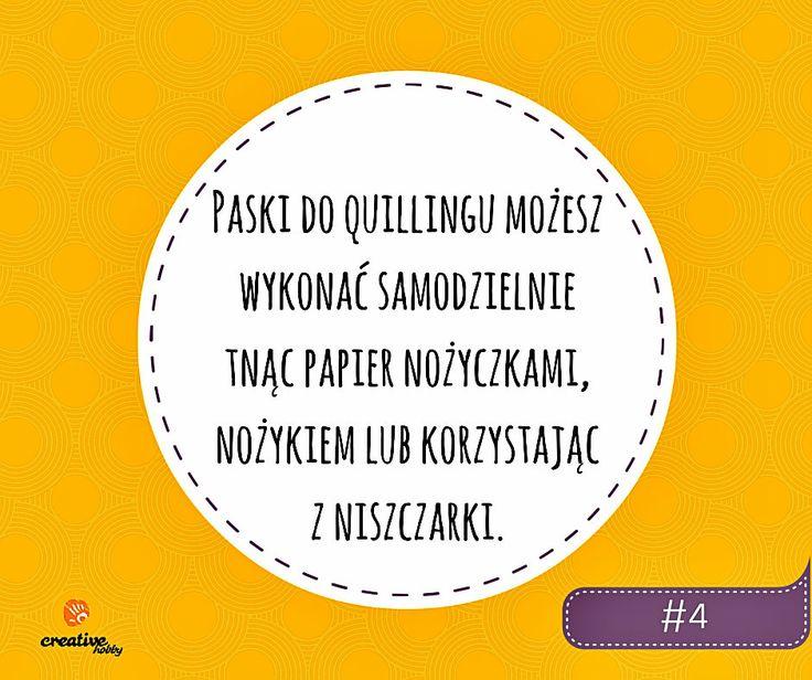 Porada #4: Jak zrobić paski do quillingu? Technika: quilling
