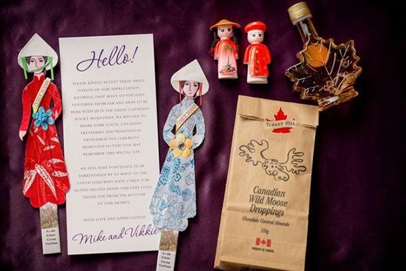 Creative invitation ideas for Alberta, Canada destination wedding.    Seen on: http://www.jetfeteblog.com/destination-weddings/destination-wedding-lake-louise    Photos: Orange Girl Photographs