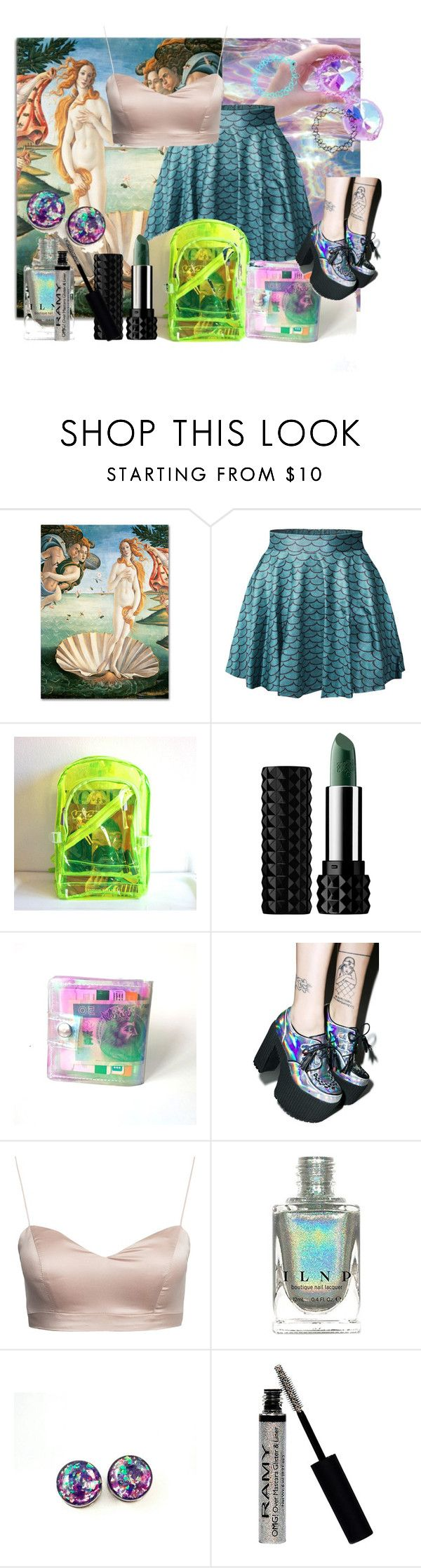 """""""Sea Grunge Summer Day"""" by ecchy-mose ❤ liked on Polyvore featuring Trademark Fine Art, Kat Von D and Current Mood"""