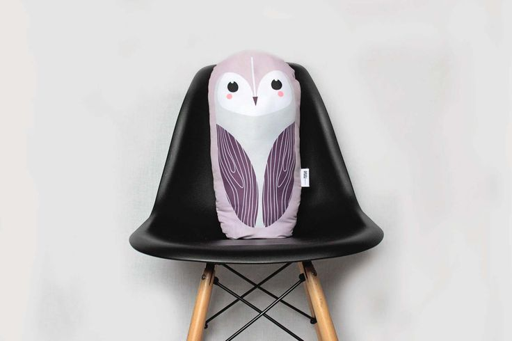 SNOW/BARN OWL big, soft stuffed cushion #cushion #pillow #toy #baby #kidsroom #owl #illustration #design #cute #animal #design #nursery
