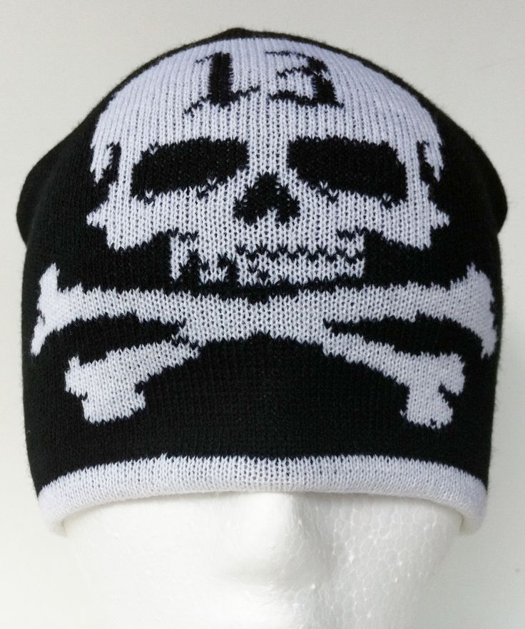 Cool Lucky 13 Cold Winter New Ski Hill Tuque Beani Hat #13 #beaniehat #skullhat #crossbones #crossboneshat #crossbonesbeanie #lucky13 #lucky13beanie