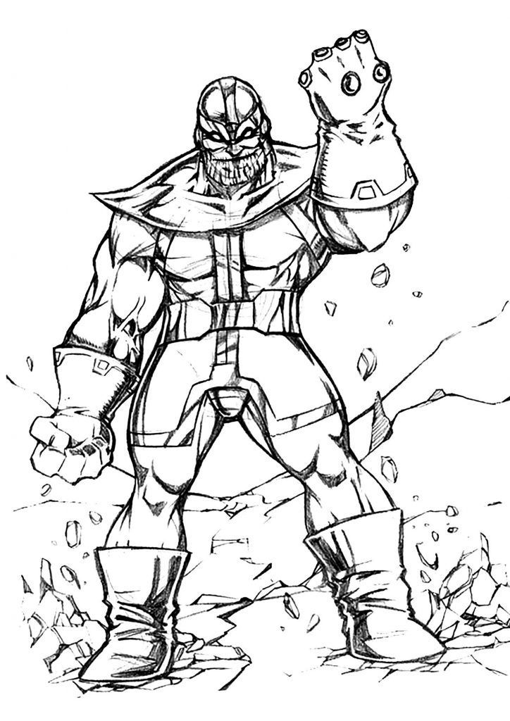 already colored Thanos Coloring Pages - Best Coloring ...