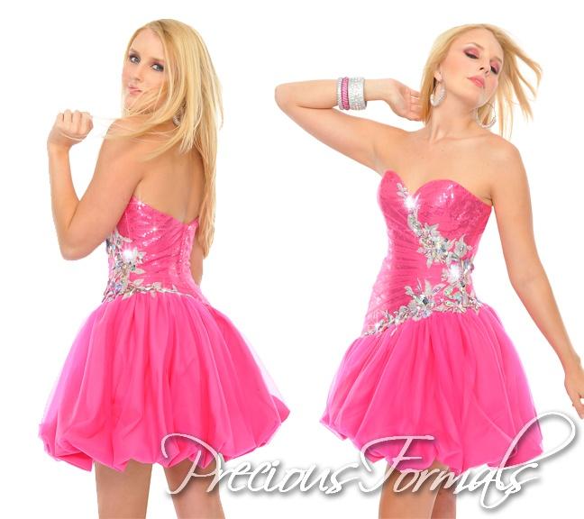 crystal embellishments and a bubble hem! #PreciousFormals #IPAProm #homecomingdresses #dress