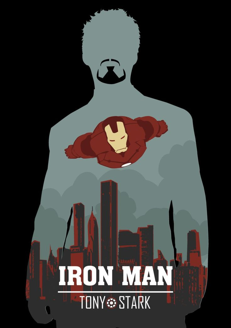 IRON MAN, Tony STARK, Wall Art Print Movie Poster (selectable size)