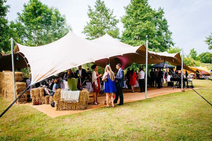 A Freestretch marquee Stretchtent! #Haybales #wedding #venue  www.freestretch.co.uk