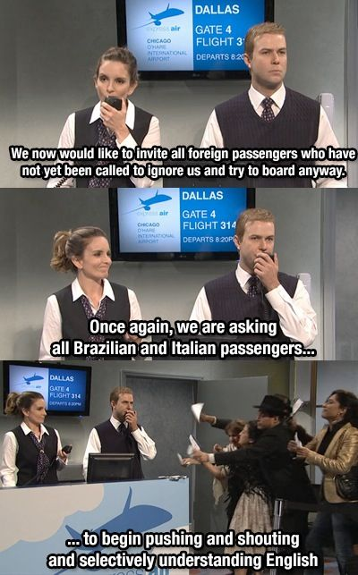 Airline humor...