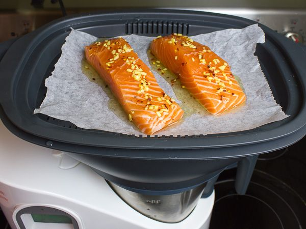 rice, greens and salmon. Bellini Kitchen Master Product Review-7