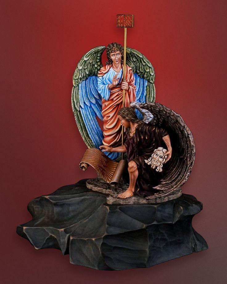 Оловянная миниатюра: Архангел Михаил «Сила Слова». Эксклюзивная роспись. Артикул: 246ex