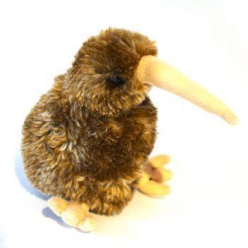 New Zealand Brown Kiwi Soft Toy with Sound