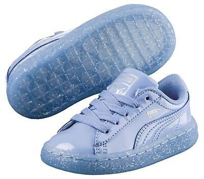 Puma Basket Patent Iced Glitter Kids Sneakers