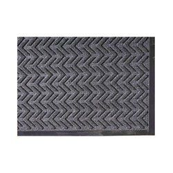 """EcoPlus Wiper / Scraper Mat Size: 35"""" x 118"""", Color: Charcoal by Crown. $154.93. Height X Length X Width : 0.625 X 3.16667 X 0.625. ECR310 CHA Size: 35"""" x 118"""", Color: Charcoal Features: -Ecoplus wiper / scraper mat.-Material: 100pct Recycled P.E.T. polyester.-Fiber surface.-Reinforced nitrile / rubber blend backing delivers excellent performance in heavy traffic areas.-Raised rubber edging retains water and dirt, eliminating run-off problems.-Crush-resistant rein..."""