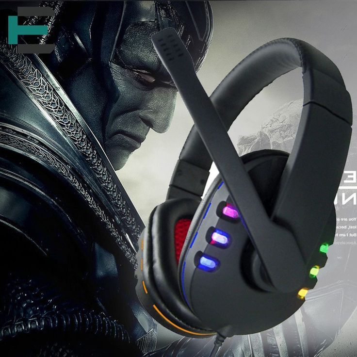Deep Bass Game Headphone Stereo Surrounded Over-Ear headband glowing Gaming Headset