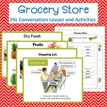 supermarket or grocery store vocabulary and activities int level