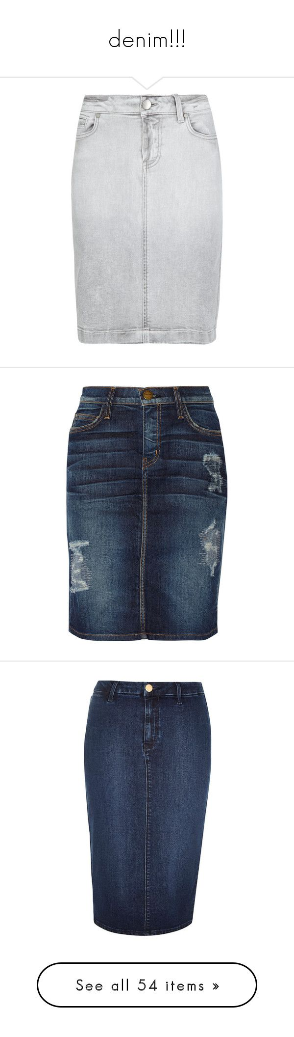 """""""denim!!!"""" by missbeth1897 ❤ liked on Polyvore featuring skirts, knee length pencil skirt, knee length denim pencil skirt, denim skirt, pencil skirt, knee length denim skirt, bottoms, denim, blue and button skirt"""