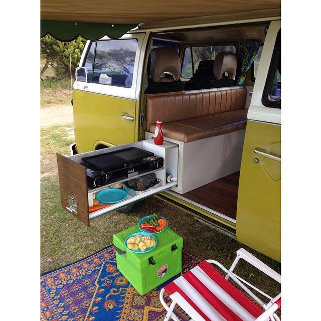 late bay campervan - cooking unit
