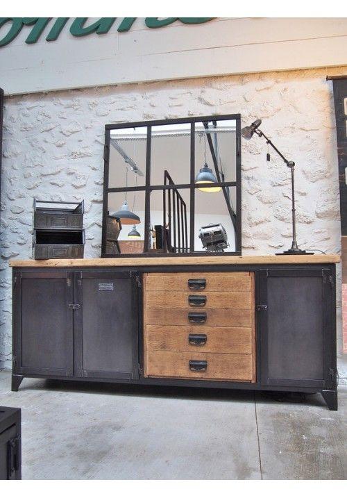 les 25 meilleures id es de la cat gorie buffet industriel. Black Bedroom Furniture Sets. Home Design Ideas