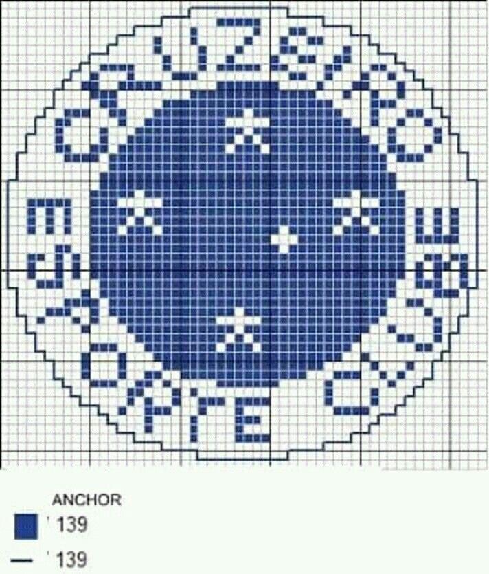 56fb09c21d3b6 Escudo do Cruzeiro em ponto cruz. | gráficos | Ponto cruz, Símbolo ...