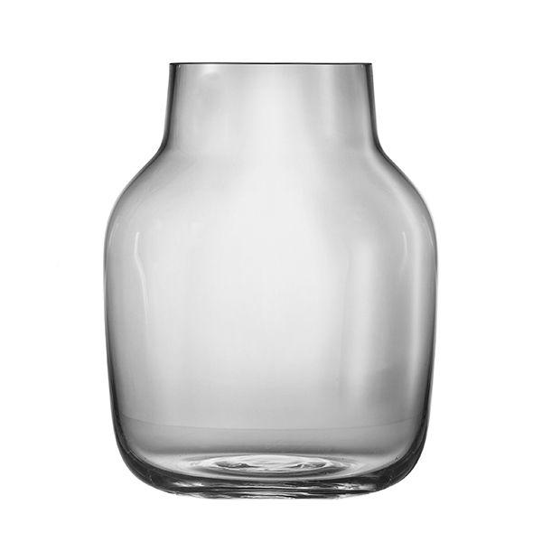 Grey Silent vase by Muuto.