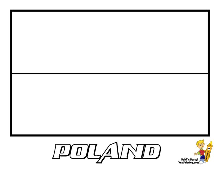 National Flag Coloring Page Of Poland
