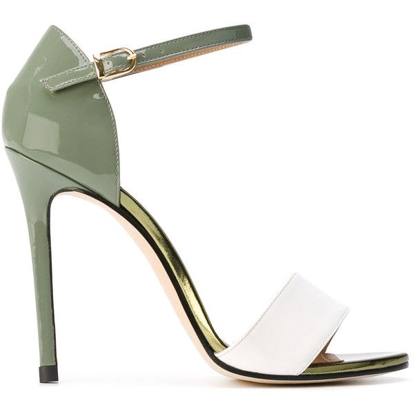 Marc Ellis stiletto sandals ($198) ❤ liked on Polyvore featuring shoes, sandals, heels, green, high heel stilettos, green sandals, green shoes, stiletto shoes and heels stilettos