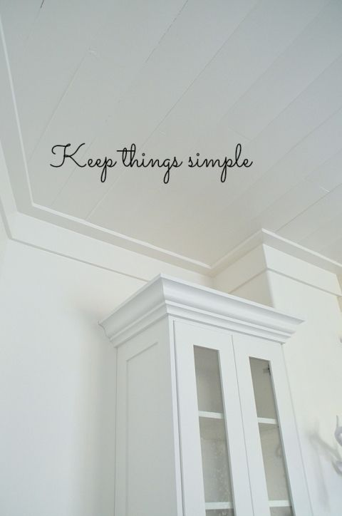 keep things simple - love this ceiling trim