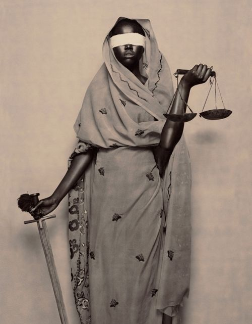 """© Marcel van der Vlugt, 2006, Lady Justice', A New Day series    """"Fiat justitia ruat caelum."""" (""""Let justice be done though the heavens fall."""") #blackandwhite #marcelvandervlugt #art #justitia"""