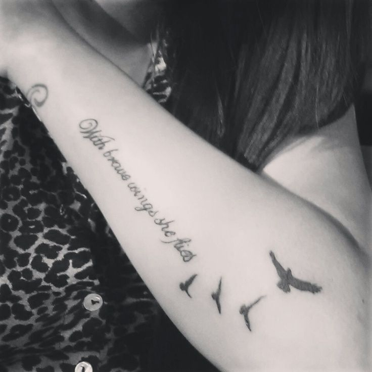 My sister tattoo with brave wings she flies Represents our ...