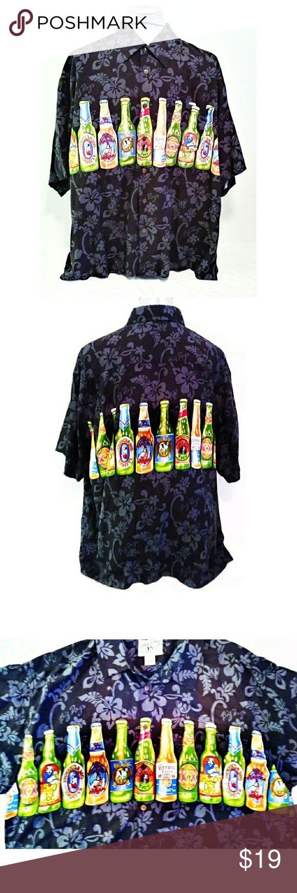 XL Big Dogs Shirt Big Dogs Hawaiian Shirt. XL Shirt. Beer Bottle Theme; Dos Perros, Big Dogs, Grrona?& More. Black Background. No Rips, No Tears, No Stains, No Discoloration. Smoke Free Environment. Shirts Casual Button Down Shirts