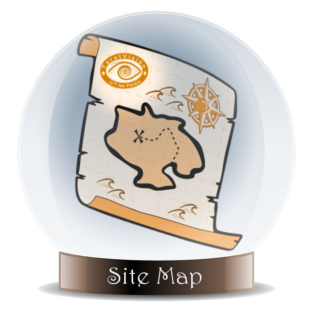 Find your way around TarotVision.com with this Psychic Site Map